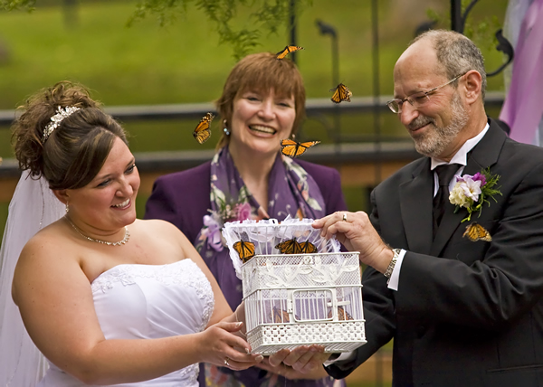 butterfly release at a garden wedding in baltimore md