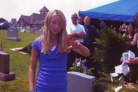 Pennsylvania butterfly release at a funeral.